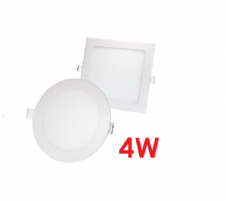 4W Recessed LED Panels Round and Square